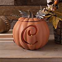 Orange Pre-Lit Monogram C Pumpkin