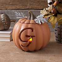 Orange Pre-Lit Monogram G Pumpkin