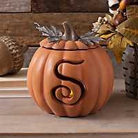 Orange Pre-Lit Monogram S Pumpkin