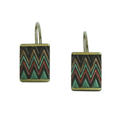 Sierra Zig-Zag Shower Curtain Hooks, Set of 12