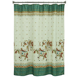 Boho Elephant Shower Curtain