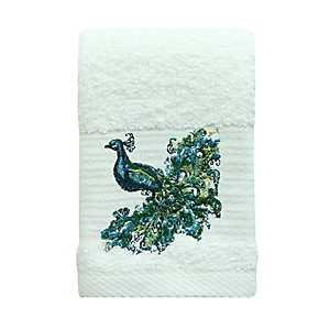 Peacock Fingertip Towel