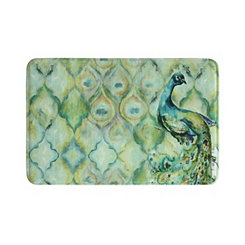 Peacock Memory Foam Bath Mat