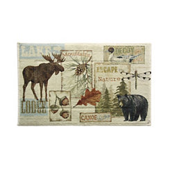 Vintage Outdoors Bath Mat