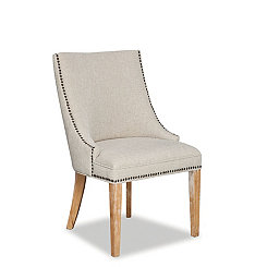 Christy Tan Linen Dining Chair
