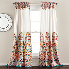 Clara Tangerine Curtain Panel Set, 95 in.