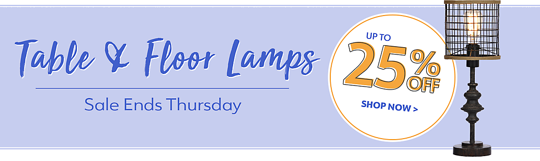 Up to 25% Off Floor and Table Lamps through Thursday - Shop Now