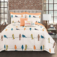 Rowyn Birds 7-pc. Full/Queen Quilt Set