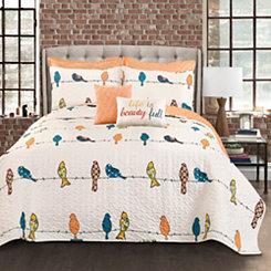 Rowyn Birds 7-pc. King Quilt Set