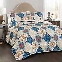 Brandy Blue 3-pc. King Quilt Set