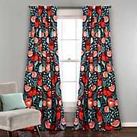 Poppy Garden Curtain Panel Set, 84 in.