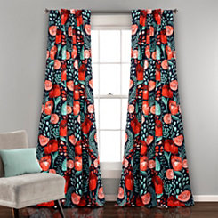 Poppy Garden Curtain Panel Set, 84 in.