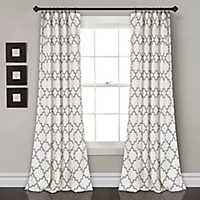 Gray Bella Curtain Panel Set, 84 in.