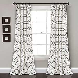 Gray Bella Curtain Panel Set, 84 in.