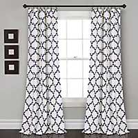 Navy Bella Curtain Panel Set, 84 in.