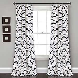 Navy Bella Curtain Panel Set, 84 in.