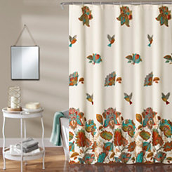 Paisley Bird Shower Curtain