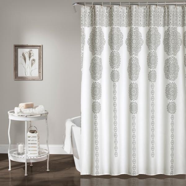 Gray Cascading Medallion Shower Curtain
