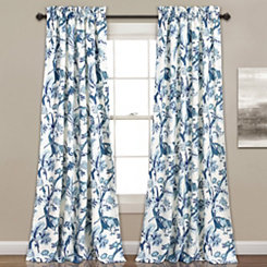 Blue Dora Curtain Panel Set, 84 in.