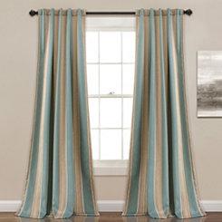 Stripe Julie Curtain Panel Set