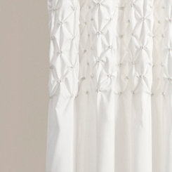 White Bayside Curtain Panel Set, 84 in.
