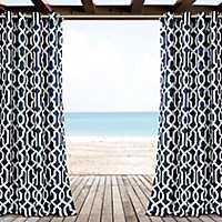 Navy Eddie Curtain Panel Set, 84 in.