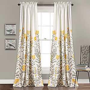 Aprile Floral Curtain Panel Set, 84 in.