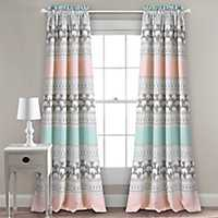 Elephant Stripe Curtain Panel Set, 84 in.