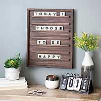 Dark Walnut Letterboard with Letter Tiles