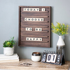 Dark Walnut Letterboard with Letter Tiles