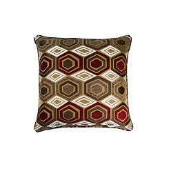 Gold Hexagon Pillow