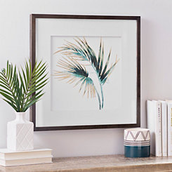 Gold Foil Palm Leaf Framed Art Print