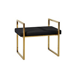 Gold and Black Vanity Bench