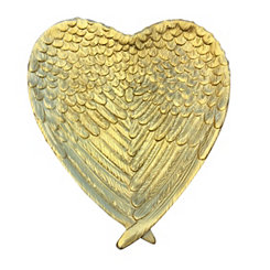 Heart Gold Decorative Resin Wings Plate