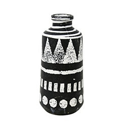 Decorative Ceramic Black and White Vase