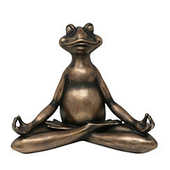 Copper Yoga Frog Statue