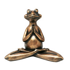Decorative Resin Copper Yoga Frog Figurine