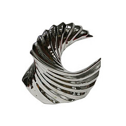 Decorative Ceramic Silver Wave Sculpture