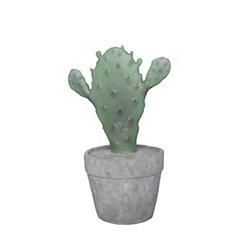 Decorative Green Resin Cactus in Gray Pot