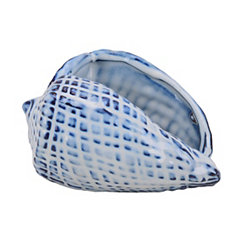 Decorative Ceramic Small Blue and White Shell