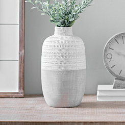Natural Concrete Patterned Vase, 12 in.
