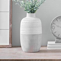 Natural Concrete Patterned Vase, 12 in.