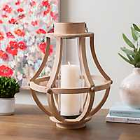 Natural Nicole Wood Lantern, 16 in.