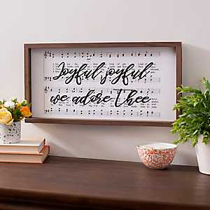 Joyful Sheet Music Framed Art Print
