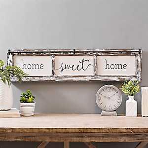 Home Sweet Home Rustic Door Frame Wood Wall Plaque