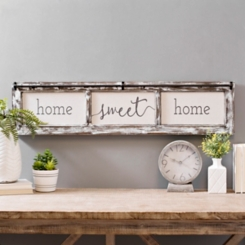 Home Sweet Home Rustic Door Frame Wood Wall Plaque