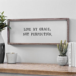 Live By Grace Framed Wall Plaque