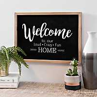 Welcome to Our Home Wood Plaque