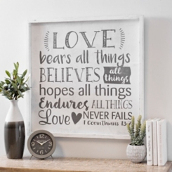 Love Bears All Things Wood Plaque