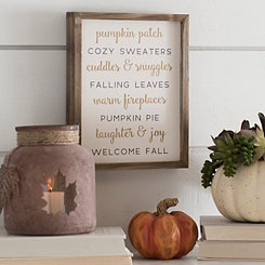 Vintage Welcome Fall Word Block